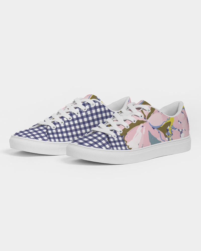 Gingham & Flowers Women's Faux-Leather Sneaker