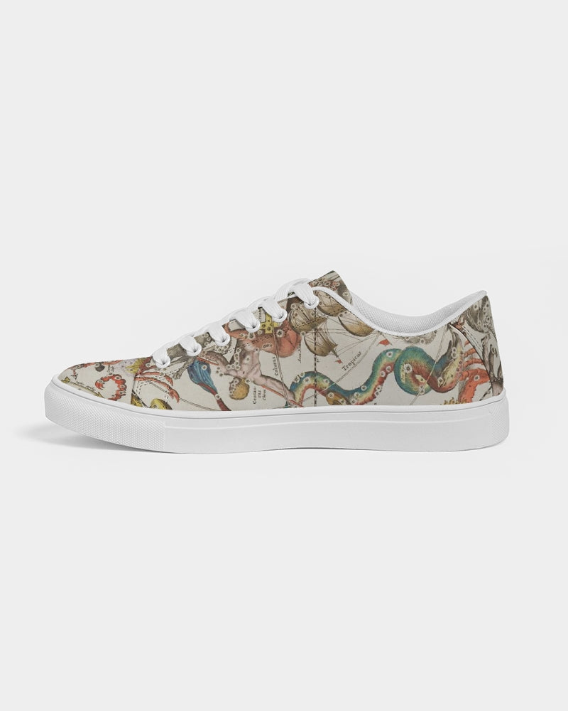 stars map circle Women's Faux-Leather Sneaker