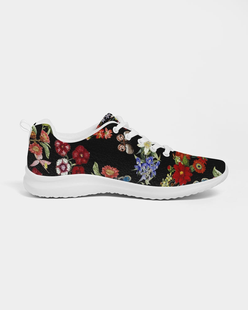 Butterfly On Flowers Botanic Women's Athletic Shoe