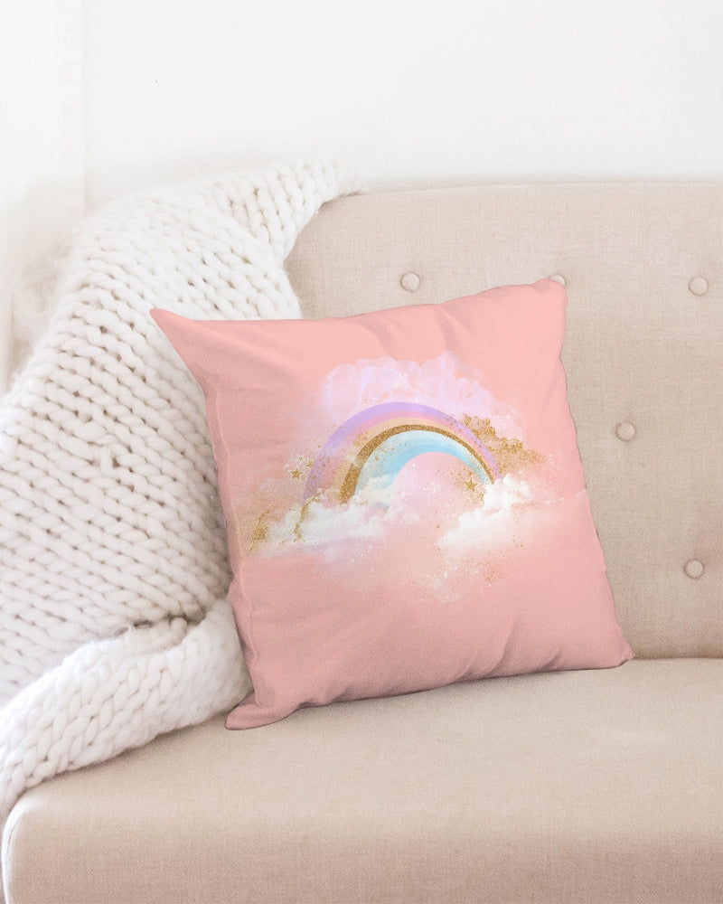 "Rainbow Throw Pillow Case 18""x18"""