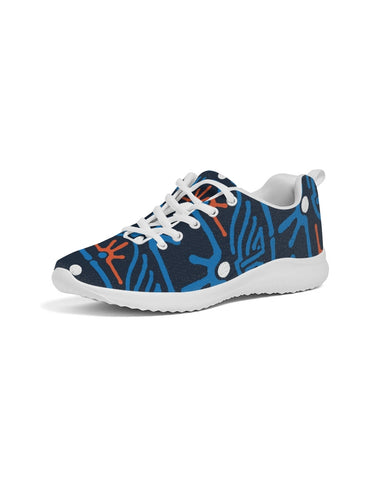 Hand Made Tribal Pattern Dark Blue Women's Athletic Shoe