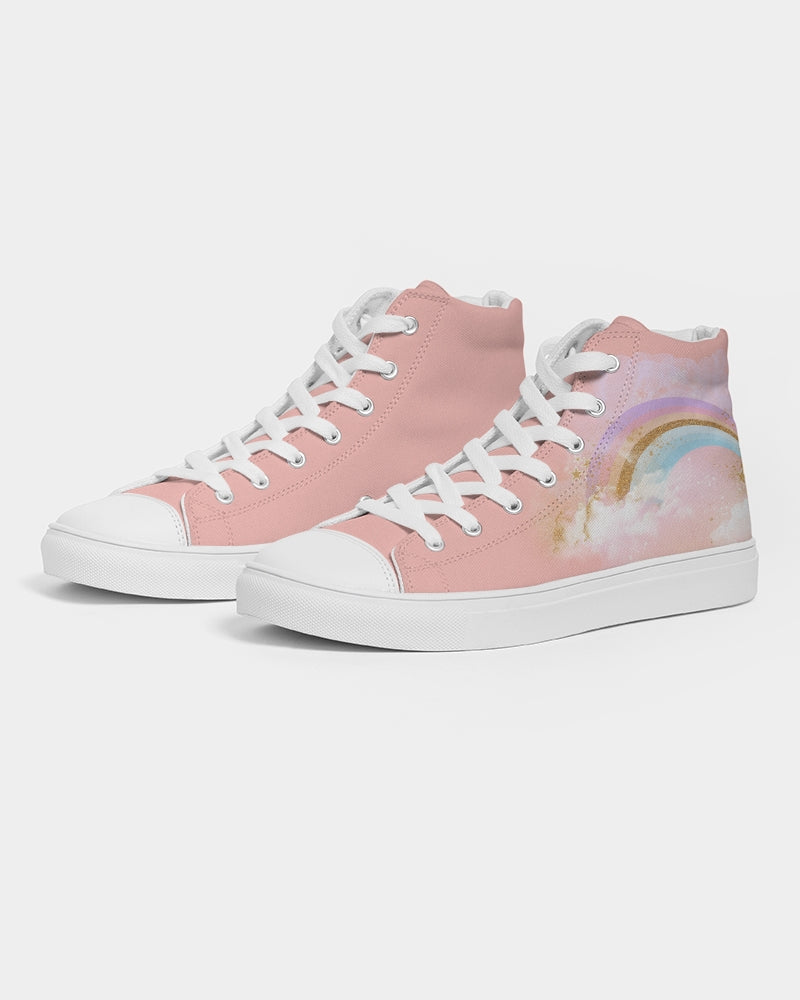 Rainbow Women's Hightop Canvas Shoe