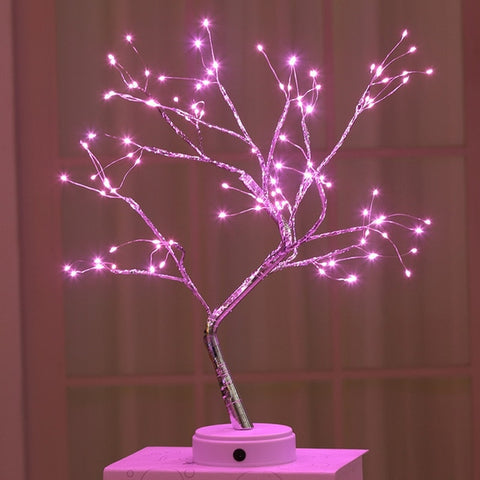 LEDS Night Light Bonsai Tree Light Gypsophila Lights Decoration Night Light
