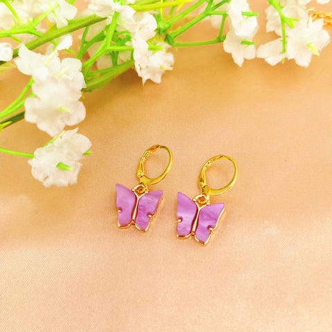 2020 Bohemian Women's Earrings Fashion Color Acrylic Butterfly Stud Earrings Animal Sweet Colorful Stud Earrings Girls Jewelry