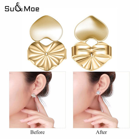 Earring Backs Support Butterfly Lifts Gold Silver Color Jewelry Accessories