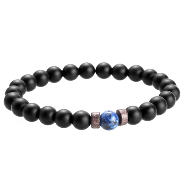 Men Bracelet Natural Moonstone Bead Tibetan  Bracelet chakra Bracelets Men Jewelry gift