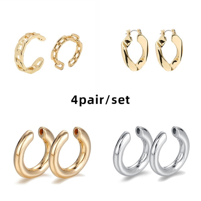 Trendy Pearl Clip on Earrings Shaped Stackable Jewelry