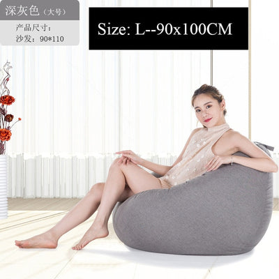 Bean Bag Sofa Cover Lounger Chair Sofa Ottoman Seat Living Room Furniture Without Filler Beanbag Bed Pouf Puff Couch Lazy Tatami