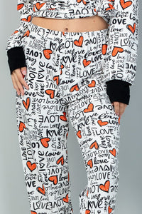 Heart and Soul Lounge Pants - Ivory
