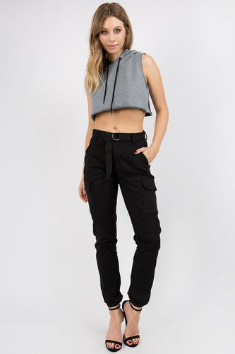 You're My Favorite Cargo Joggers - Black