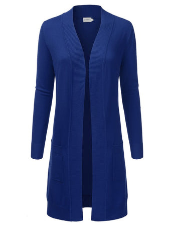 Dream Chaser Open Front Cardigan - Royal Blue