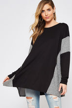 Load image into Gallery viewer, Stuck in Stripes Sweater Tunic - Curvy Exclusive