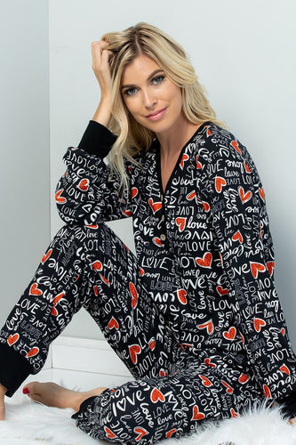 Heart and Soul Lounge Pants - Black