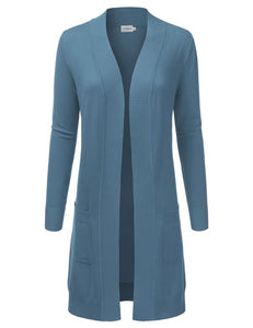 Dream Chaser Open Front Cardigan - Teal