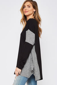 Stuck in Stripes Sweater Tunic - Curvy Exclusive