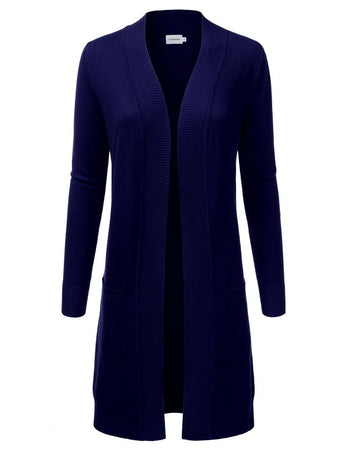 Dream Chaser Open Front Cardigan - Navy