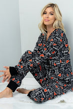 Load image into Gallery viewer, Heart and Soul Lounge Pants - Black