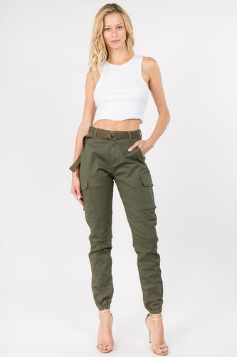 You're My Favorite Cargo Joggers - Olive