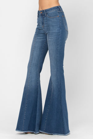 Judy Blue High Rise Mid-Seam Flare Jeans