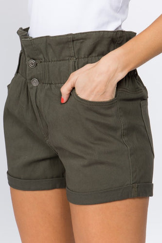 Ready for Anything Twill Shorts - Olive