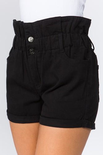 Ready for Anything Twill Shorts - Black