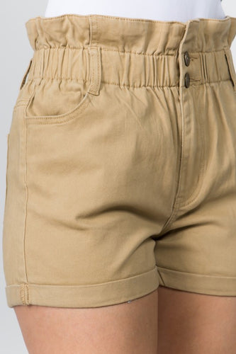 Ready for Anything Twill Shorts - Khaki