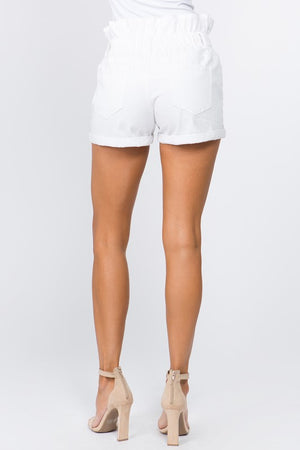 Ready for Anything Twill Shorts - White