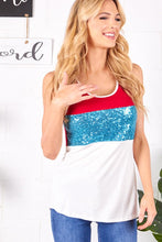 Load image into Gallery viewer, Firecracker Sequin Detail Tank