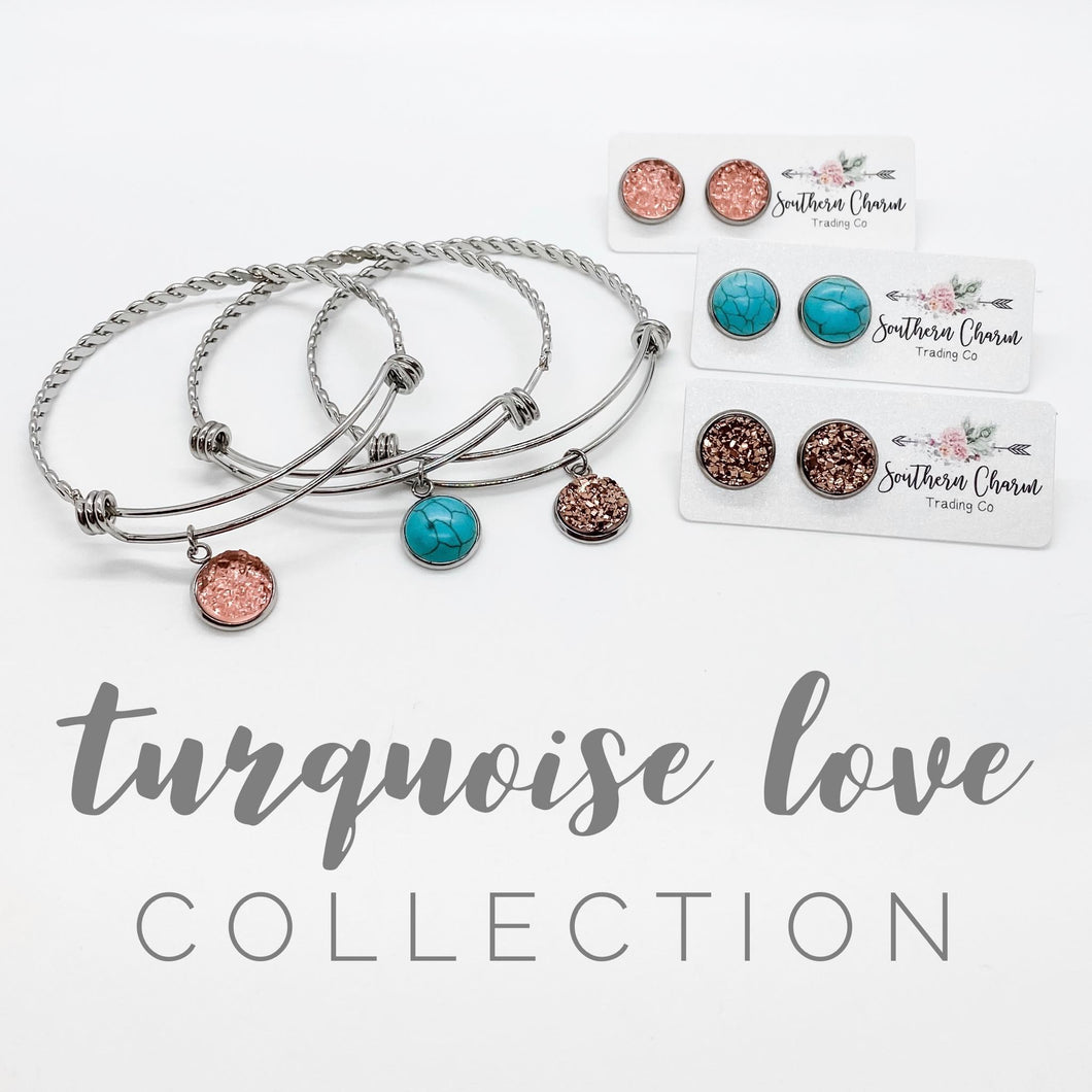 Turquoise Love Collection Set - Crystal Flamingo