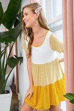 Load image into Gallery viewer, Thinking About You Tiered Tunic Dress - Mustard