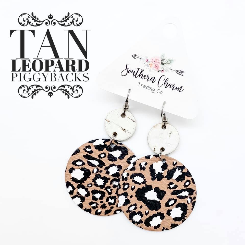 Tan Leopard Piggybacks