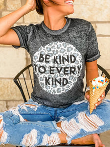 Be Kind Burnout Graphic Tee