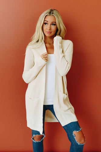 Forget Yesterday Open Front Cardigan - Cream