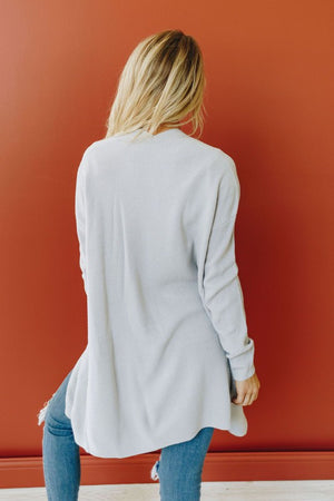 Forget Yesterday Open Front Cardigan - Grey