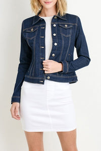 Ready For Anything Jean Jacket - Super Dark Wash