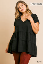 Load image into Gallery viewer, Rhythm Of Love Tiered Tunic - Black