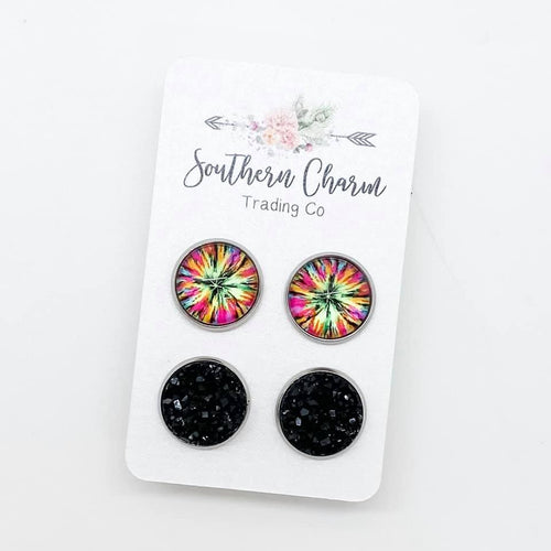 Starburst & Black Duo Studs