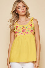 Load image into Gallery viewer, Ray of Sunshine Tie Shoulder Tank