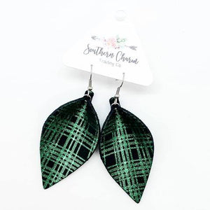 Metallic Green Plaid Petals