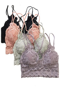 This is Love Lace Bralette - Rose