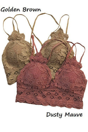 This is Love Lace Bralette - Golden Brown