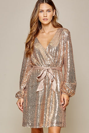 Midnight Toast Dress - Champagne