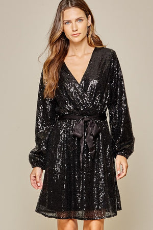 Midnight Toast Dress - Black