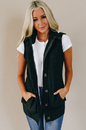Too Cute To Be True Vest - Black
