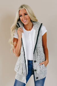 Too Cute To Be True Vest - Heather Grey