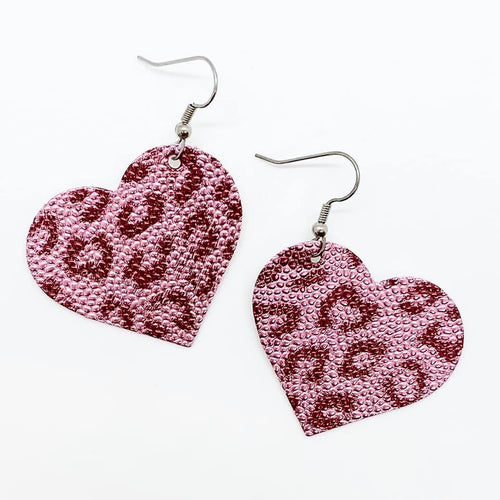 Pink Leopard Itty Bitty Hearts