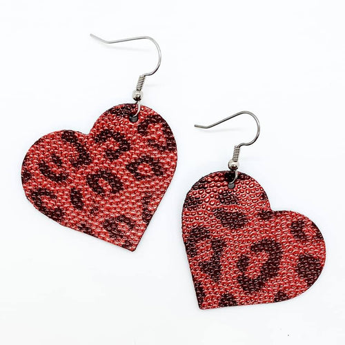 Red Leopard Itty Bitty Hearts