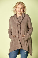 Load image into Gallery viewer, Twilight Memories Hanky Hem Tunic - Smoky Brown
