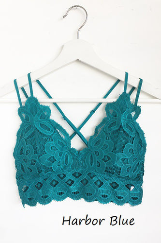 This is Love Lace Bralette - Harbor Blue