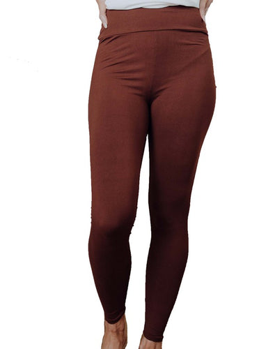 Perfect Fit Leggings - Brown